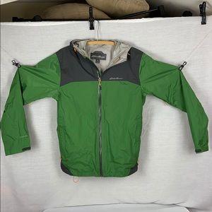 Eddie Bauer Cloud Cap Green And Gray Rain Jacket